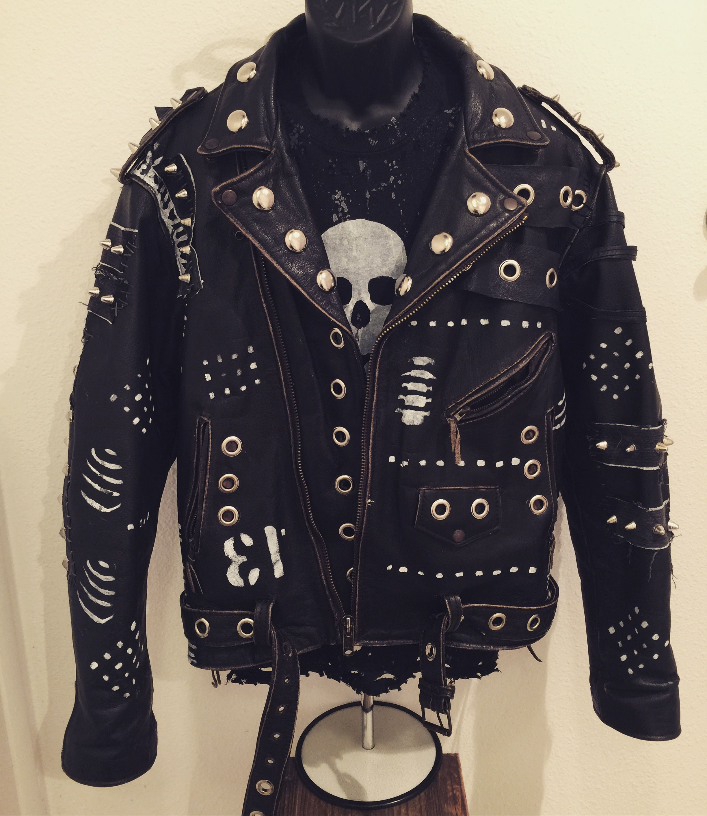 Warrior jackets from ChadCherryClothing Distressed
