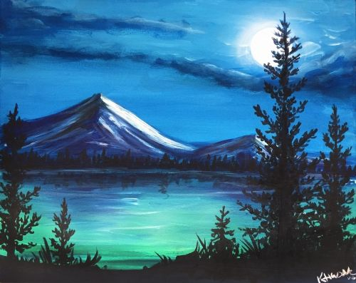 Landscape Mountain Painting Easy