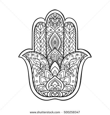 hindu hand coloring pages - photo#10