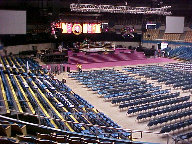 Nashville Municipal Auditorium Mount Zion New Year\u0027s Eve Setup