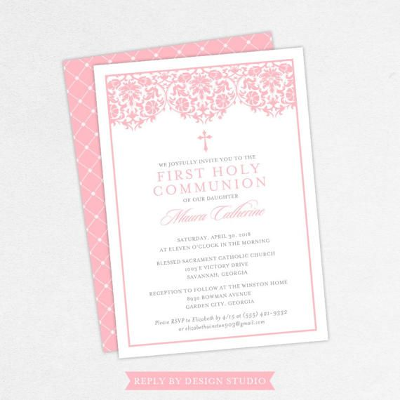 Invite your family and friends to your childs first communion this communion invitation is available as a diyprint yourself pdf file or with full printing solutioingenieria Choice Image