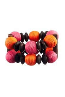 Bracelet Ging Rose, Orange & Marron