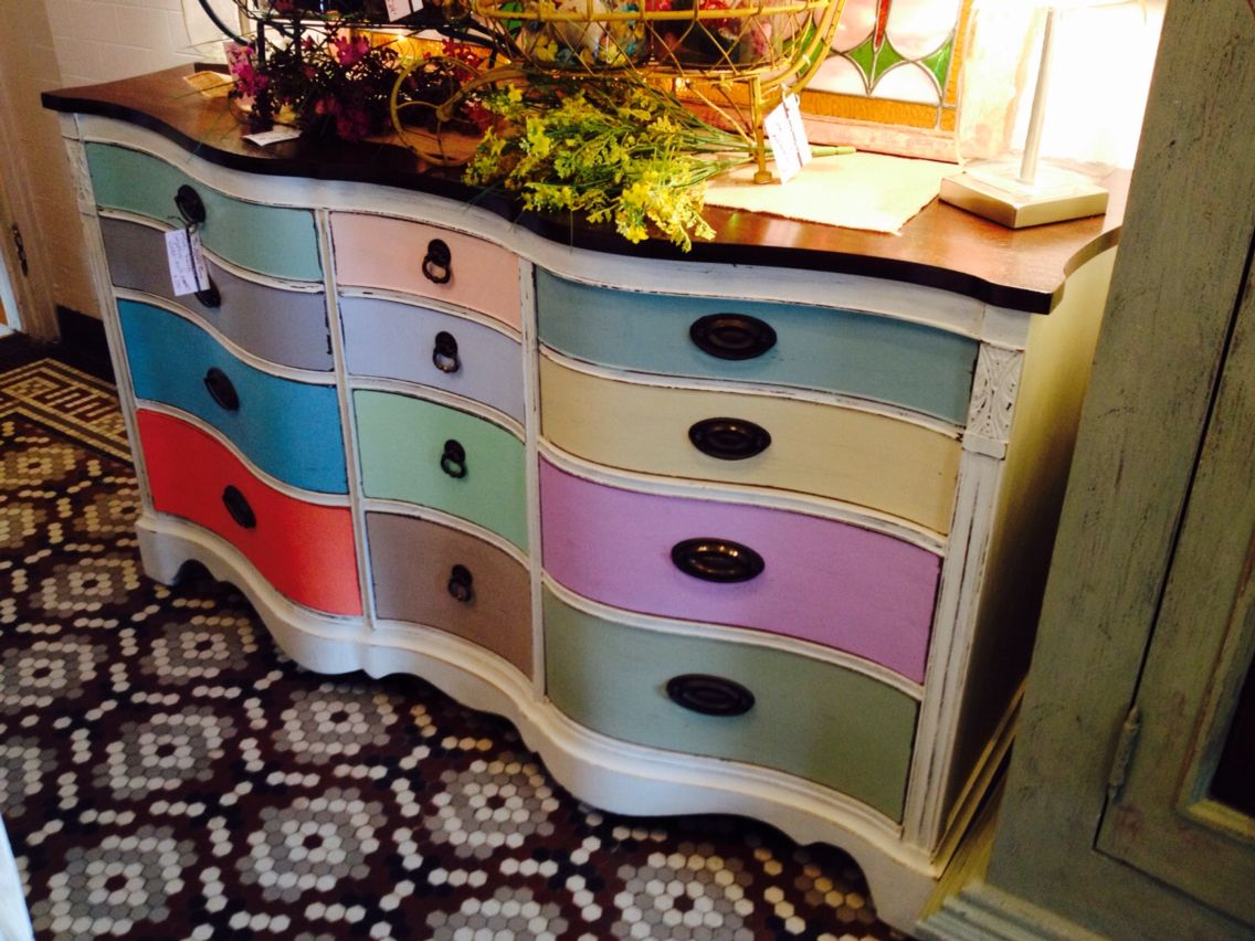 Inspiration for the dresser we own.