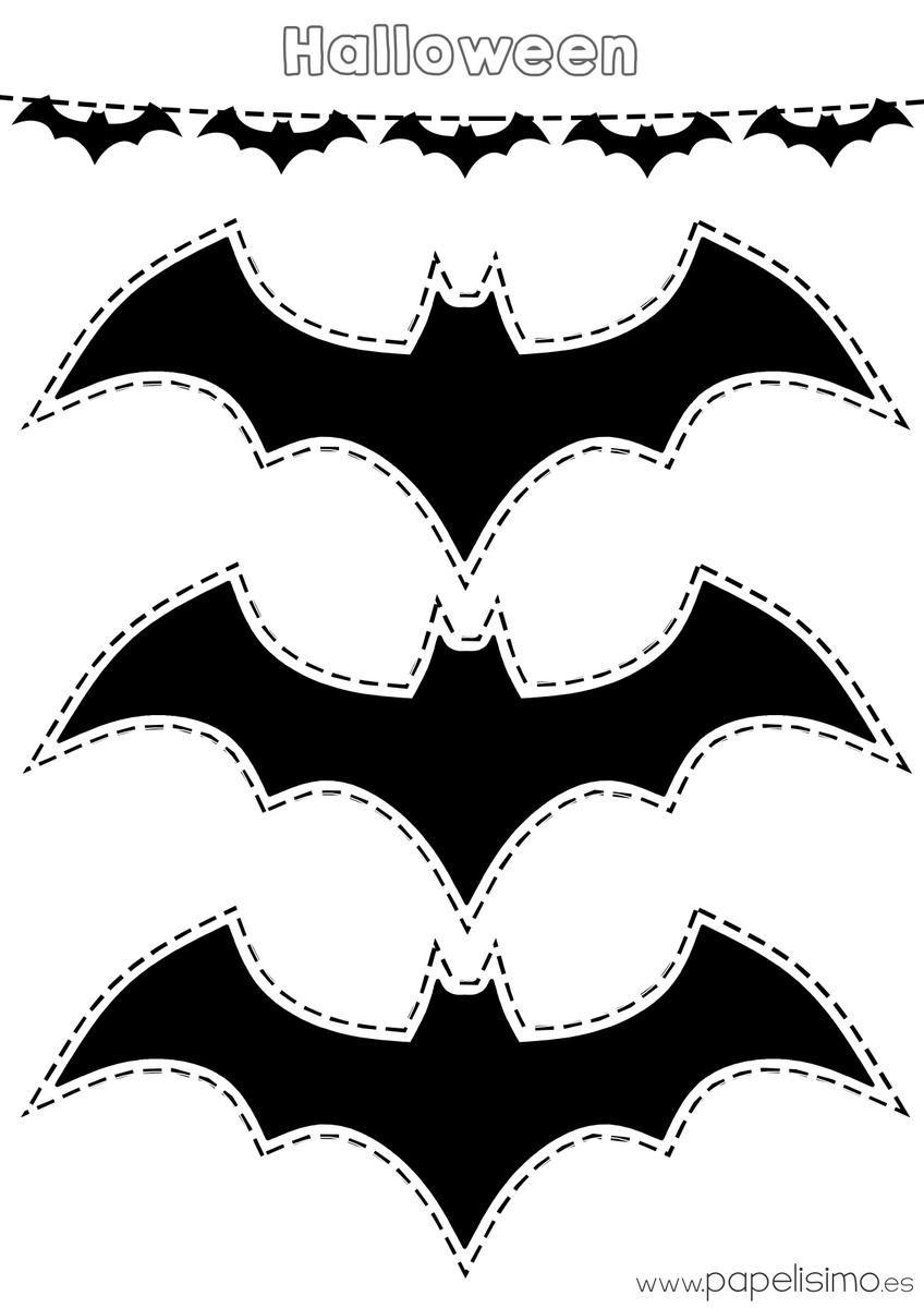 Manualidades para colorear y recortar en Halloween | Murcielagos ...