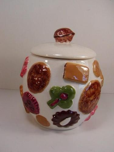 1950's Cookie Jars Enchanting Cookies All Over Vintage Cookie Jar Los Angeles Pottery 1950's Inspiration