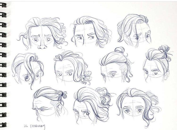 Sencillo y bonito peinados dibujo Galeria De Cortes De Pelo Tendencias - Peinados de hombre | Dibujos de hombres, Peinados de ...