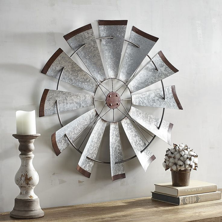 galvanized windmill wall decor windmill wall decor. Black Bedroom Furniture Sets. Home Design Ideas