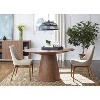 Wesley 53Inch Dining Tableeuro Style  Round Pedestal Tables Simple Dining Room Furniture Outlet Stores Decorating Inspiration