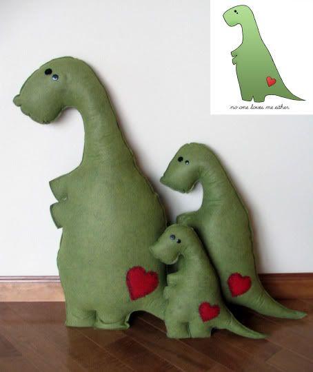 Kuschel Dinos - Spielzeug, Puppen und Spielzeug
