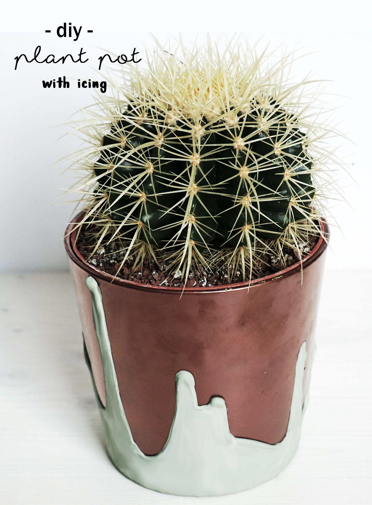 diy blumentopf mit kupfer und glasur | crafting, plant pots and copper, Gartengerate ideen