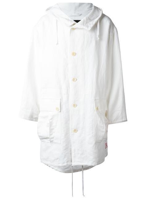 Hooded anndemeulemeester Oversized Ann Coat cloth Demeulemeester gUxBfwwq4