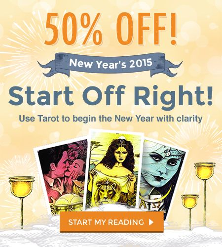 Celtic Cross Tarot reading at 50% off! This premium 11-card spread is the most popular reading we offer.