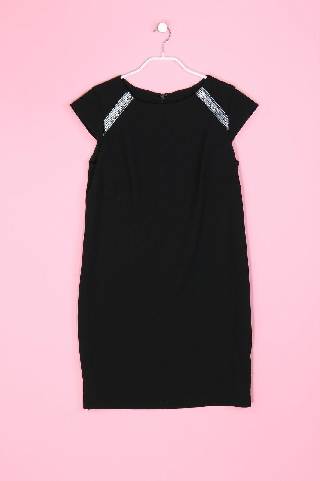 MANGO SUIT Mini-Etui-Kleid mit Pailletten M schwarz Sheath Dress