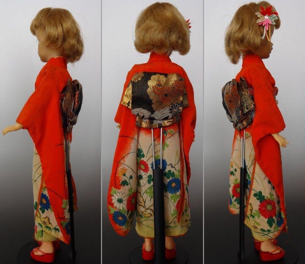 Vintage Tammy Doll Japanese Exclusive Kimono Zori Outfit Ideal 1960s | eBay