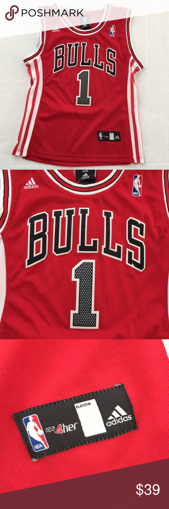 daa33a5b1335 Adidas NBA 4 Her Bulls Derrick Rose Jersey NEW Brand New With Tags Women s  Size Large Fee free to ask any questions! adidas Tops Tank Tops