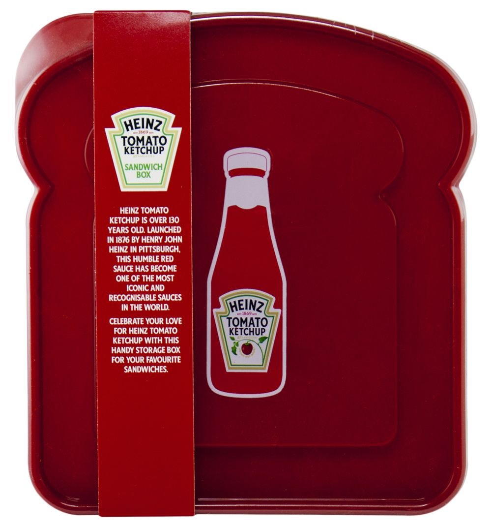 Heinz Tomato Ketchup Sandwich Box With over 130 years under its belt in the sauce department...Tomato Ketchup sure knows a thing or two about brightening up any situation! Inject some life into your lunch box with the help of this san http://www.MightGet.com/may-2017-1/heinz-tomato-ketchup-sandwich-box.asp