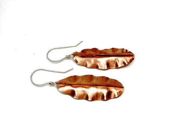 Christmas in July Sale Leaf Earrings  Foldform by SnazzyTrinkets, $30.00