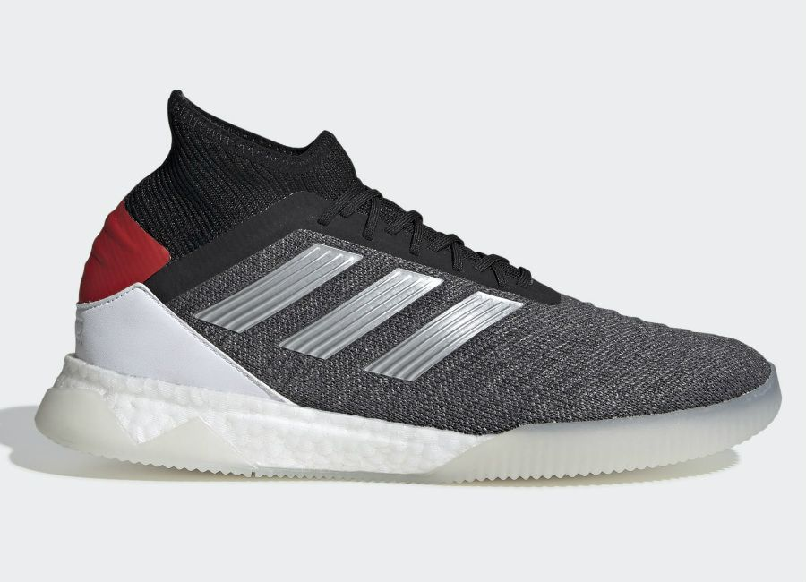 baea77d984d Adidas Predator 19.1 Trainers - Dark Grey Heather   Matte Silver   Active  Red  adidasfutbol