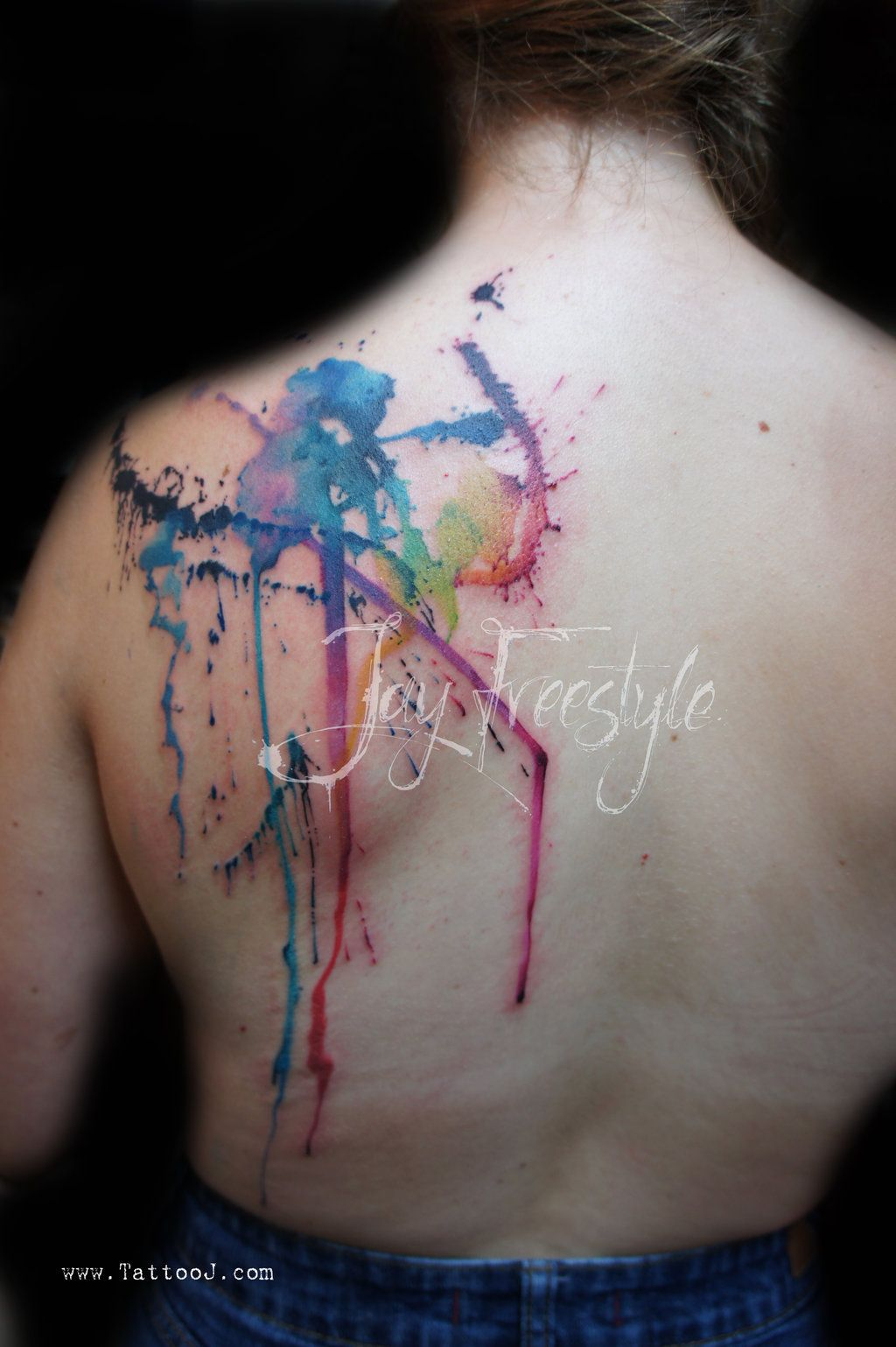 Viewing Gallery For Tulip Watercolor Tattoo Splatter Tattoo Watercolor Tattoo Tattoos