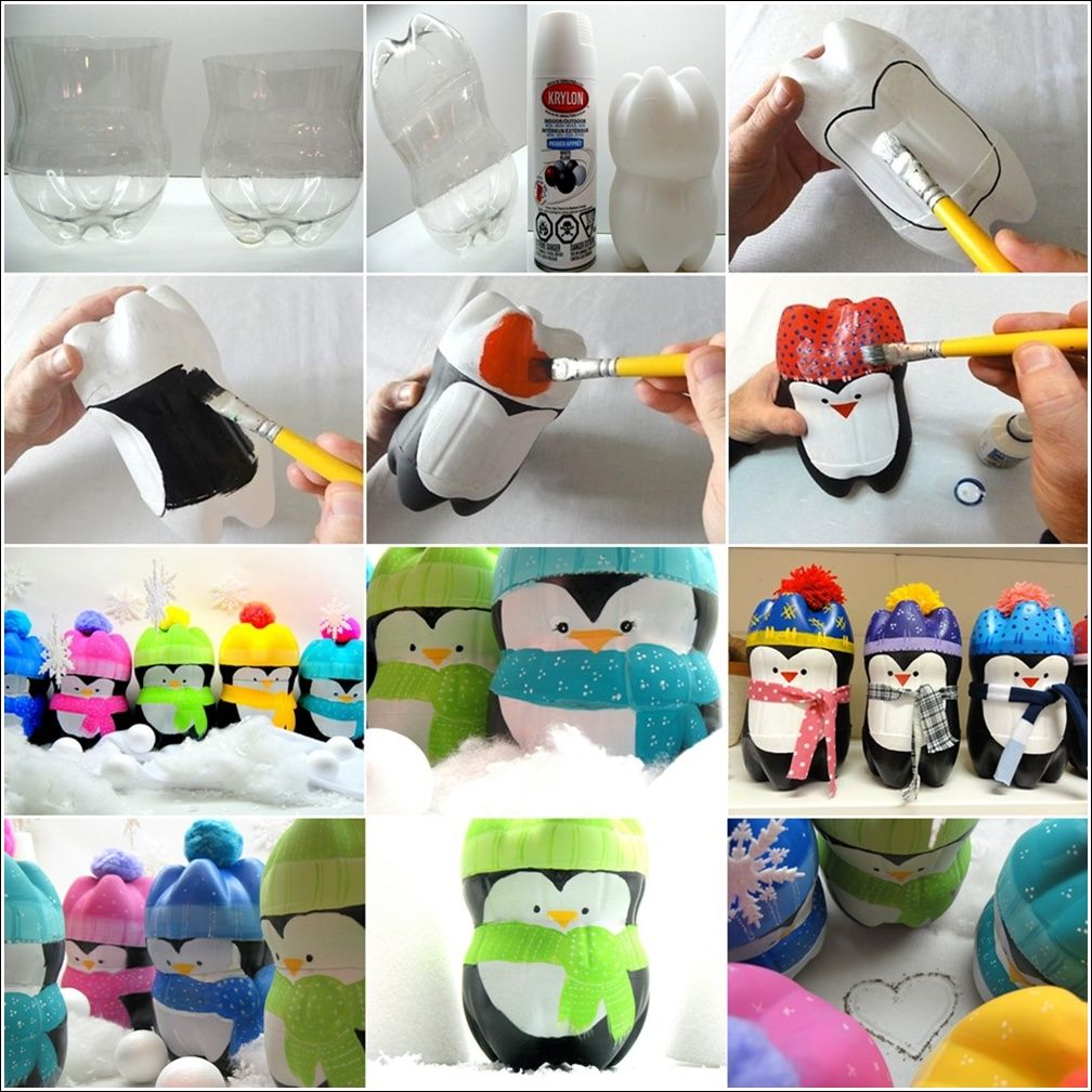 Top 30 lovely and cheap diy christmas crafts sure to wow for Diy plastic bottle crafts