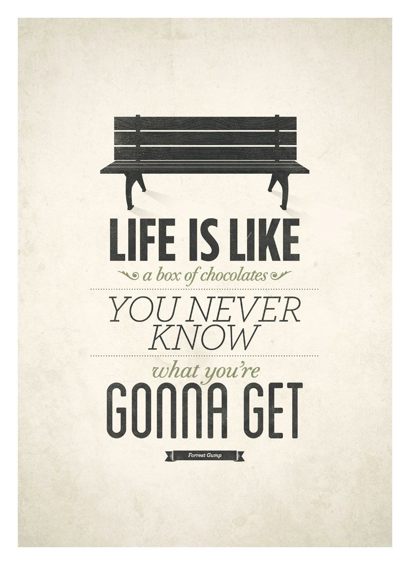Forrest Gump Poster, Life Is Like A Box of Chocolates, Rustic Art ...