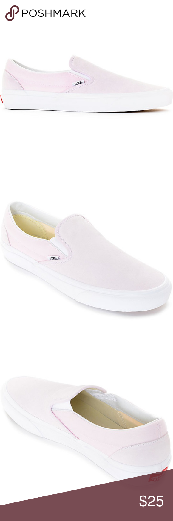 0ff02a2e71 Vans Slip-On Pastel Pink Skate Shoes Men s Sz 8.5  Small stain on left