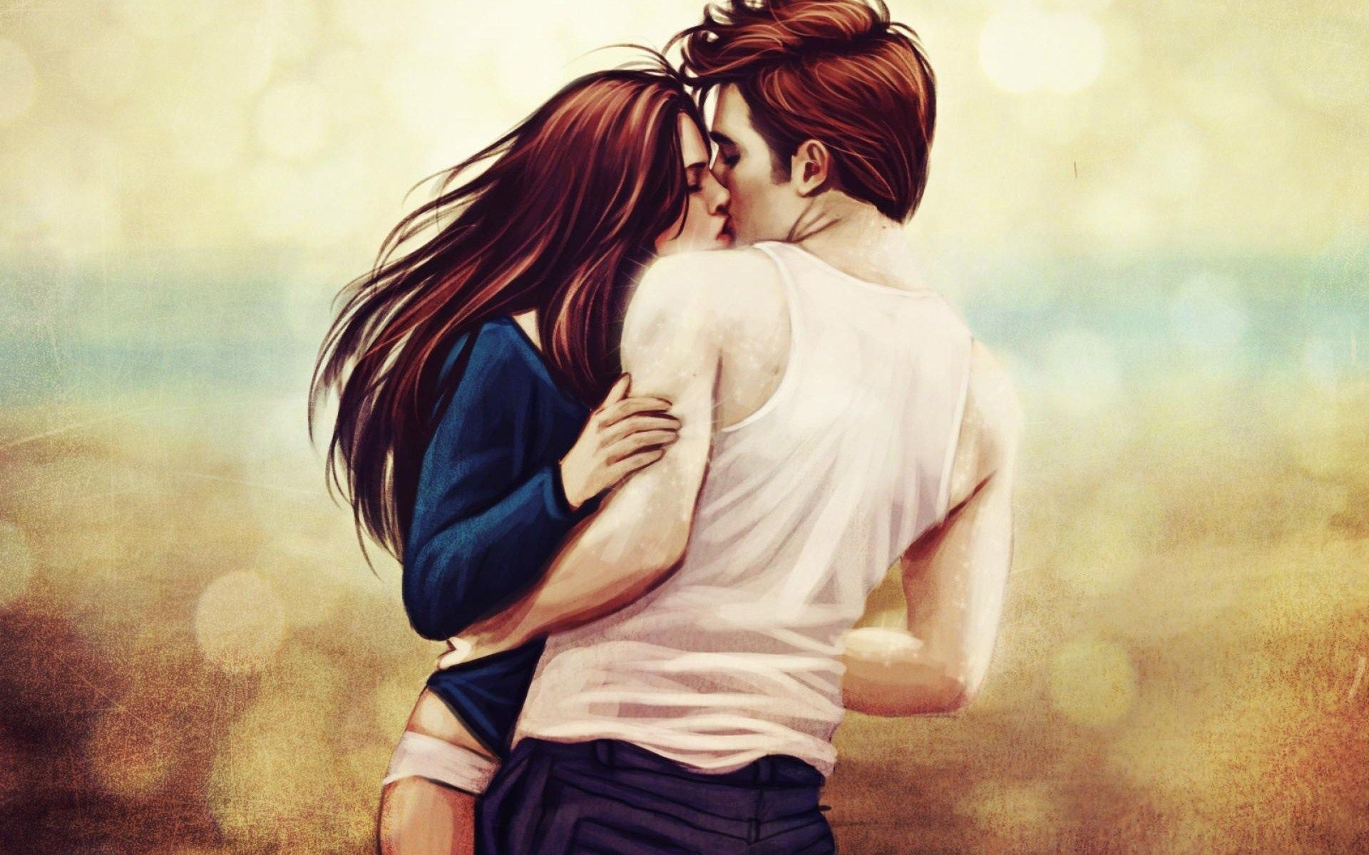 Kristen Stewart, Robert Pattinson, Kiss