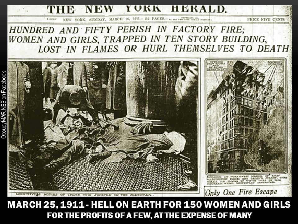 Triangle Shirtwaist Fire - the importance of worker's rights