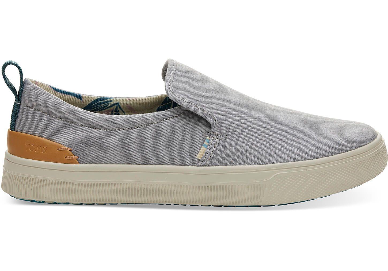 c987c4547ef Drizzle Grey Canvas TRVL LITE Women s Slip-Ons  toms  ad  shoes