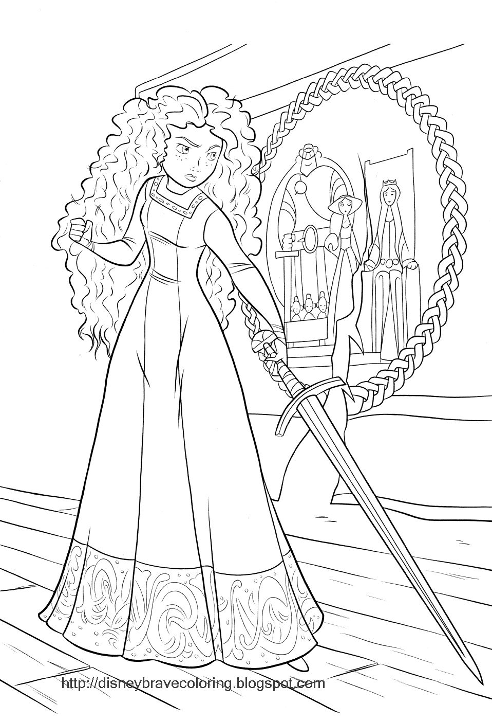 Brave Merida Coloring Pages Disney Princess Coloring Pages Princess Coloring Pages Disney Coloring Pages