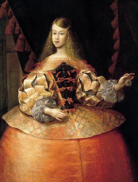1665 Portrait of the Infanta Margarita Teresa of Spain, attr. to Francisco Ignacio Ruiz de la Iglesia,