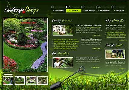 garden design template on landscape design flash template best website templates