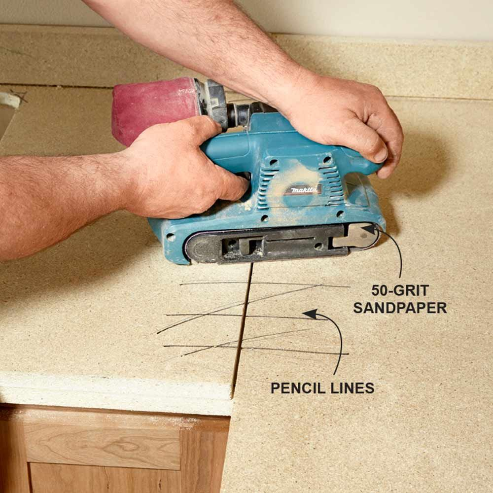 Sand The Seams   Installing Laminate Countertops: Http://www.familyhandyman.