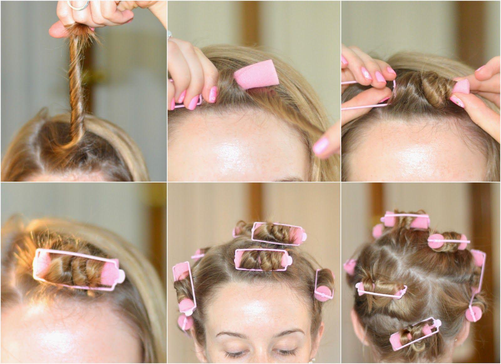 Howto Curl Short Hair Using Cheap Foam Rollers How To Curl Short Hair Foam Rollers Hair Short Hair Tutorial