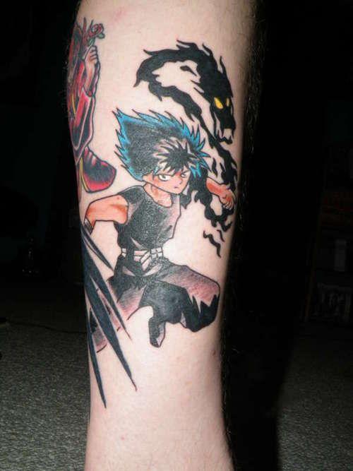 yu yu hakusho tattoo | Tattoos, Leaf tattoos, Maple leaf ...