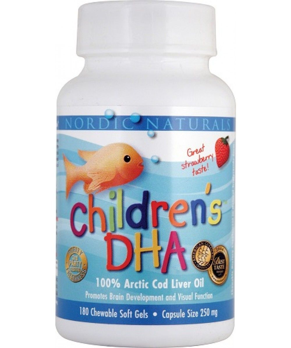 Childrens Dha 180 Capsules Strawberry By Nordic Naturals Kids Arctic Cod Liver Oil Softgels Lemon