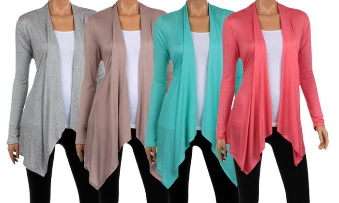 Women's Draped Spring Cardigan: Women's Draped Spring Cardigan ...