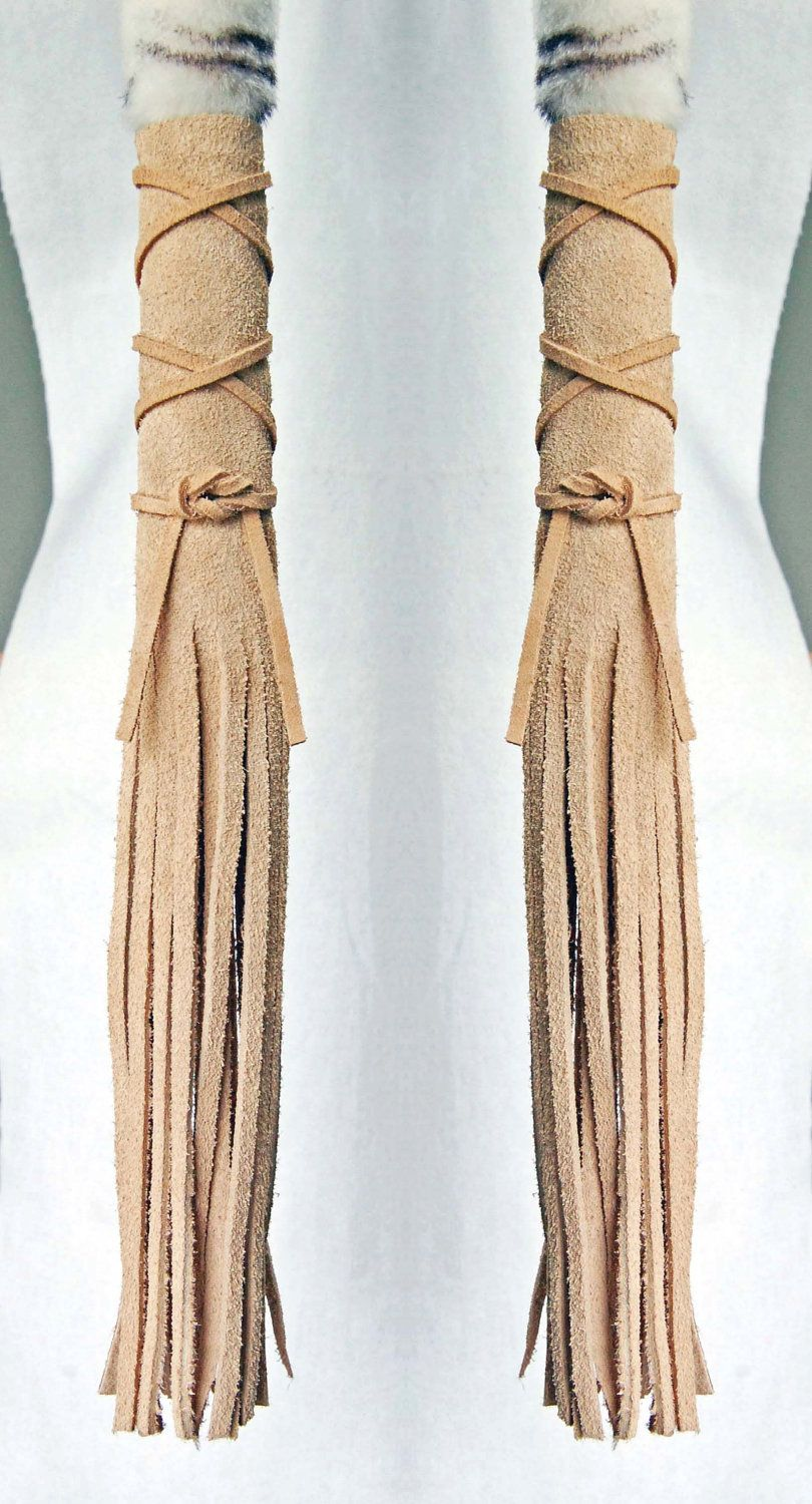 Leather Hair Wraps Native American Inspired Hair wraps