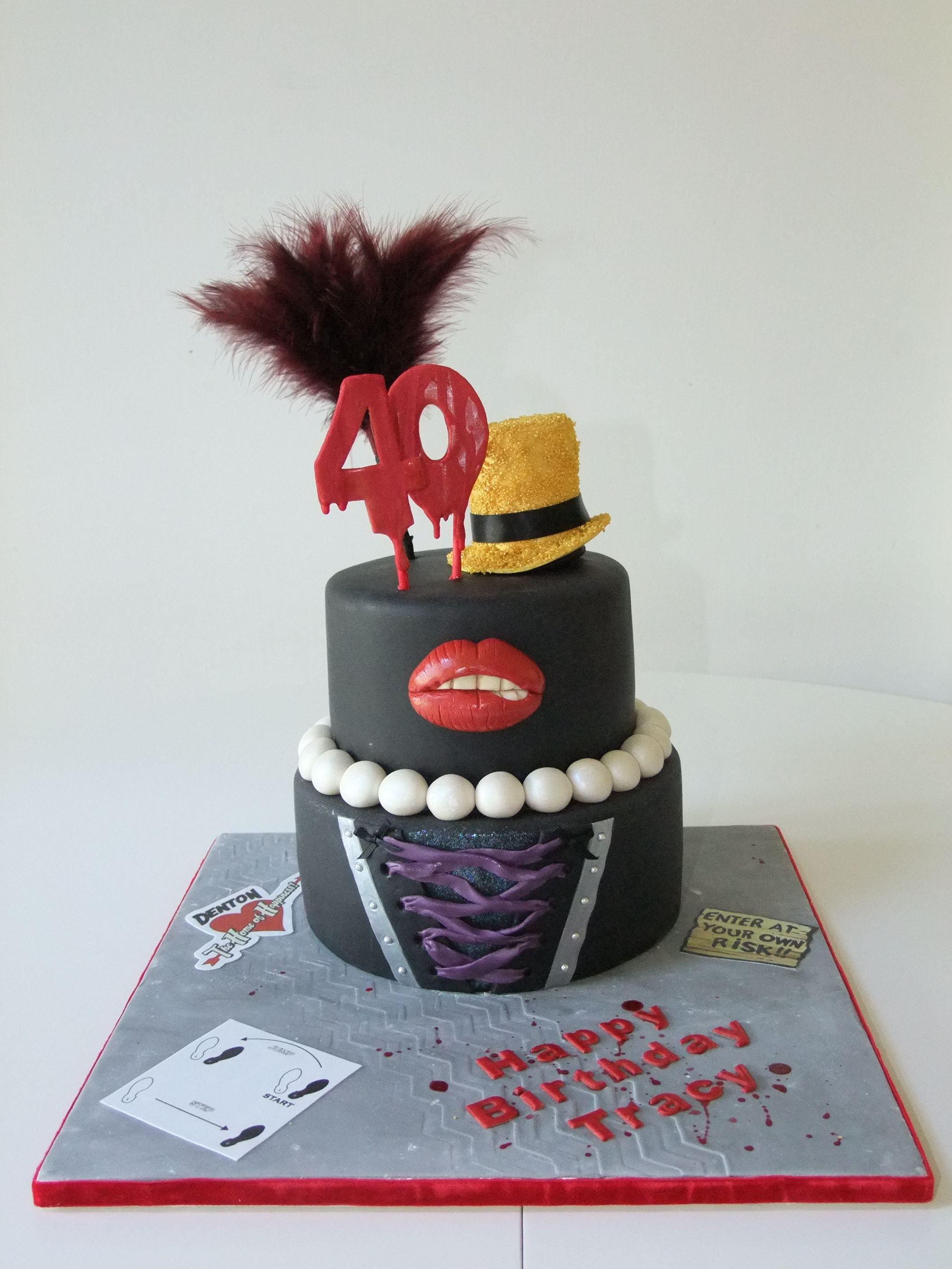 rocky horror picture show 40th birthday cake belly full. Black Bedroom Furniture Sets. Home Design Ideas