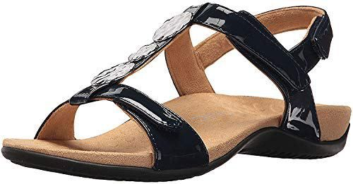 960bc89fa6fc Vionic Women s Rest Farra Backstrap Sandal Navy Patent 10W