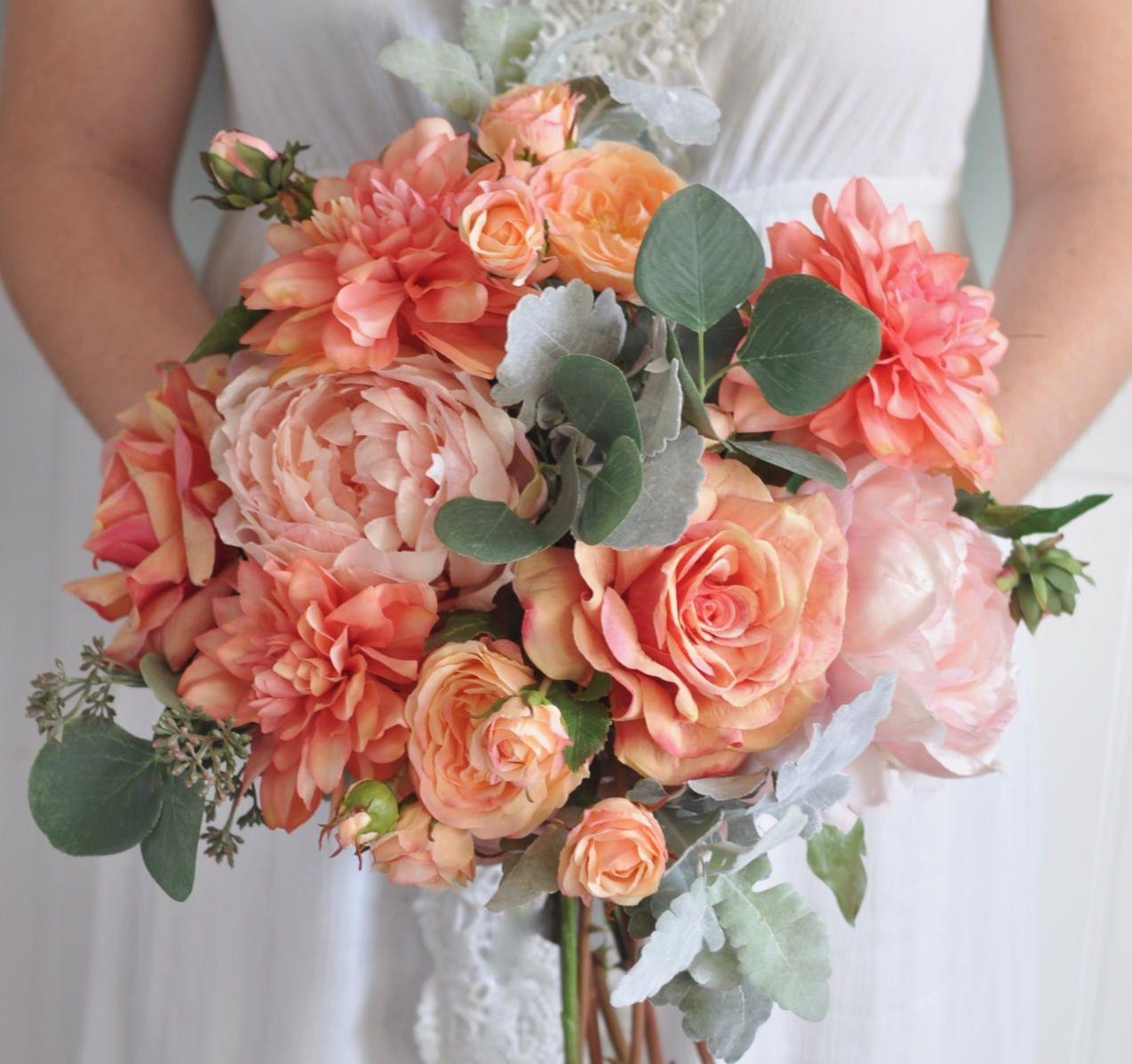 Wedding Bouquet, Wedding Flowers, Wedding, Artificial Silk Flowers, Flower Bouquet, Bridal Bouquet, Boho, Bridesmaid Bouquet, Flowers, Bride #pinkbridalbouquets