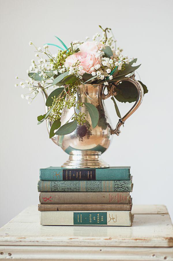 Livros + Flor