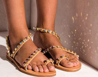 1a06e5bb8d9572 Sandals Natalie handmade to order by ElinaLinardaki on Etsy