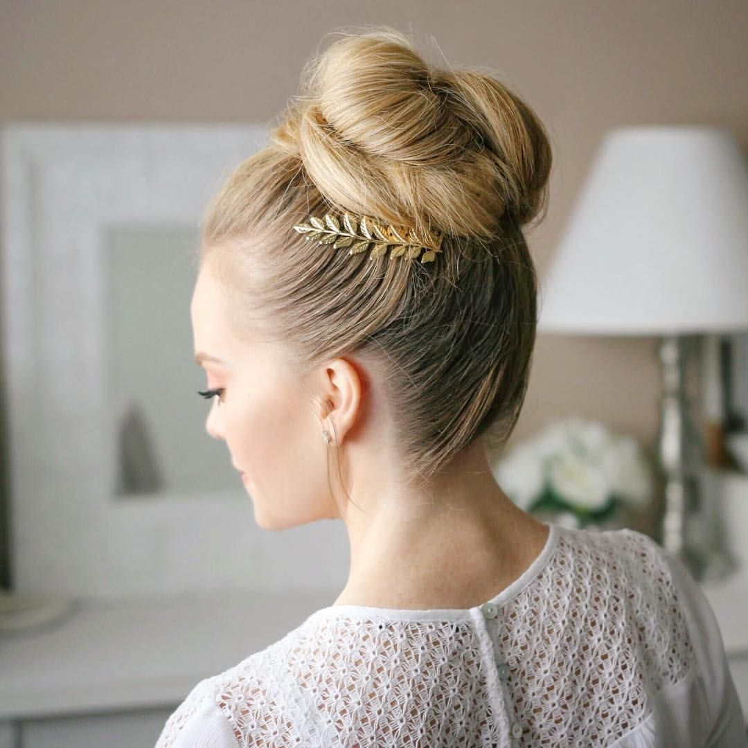 """Missy on Instagram: """"Double tap if you're going to prom!✨ The high bun from my last tutorial! It's linked in my bio or visit MissySue.com to watch the tutorial!"""