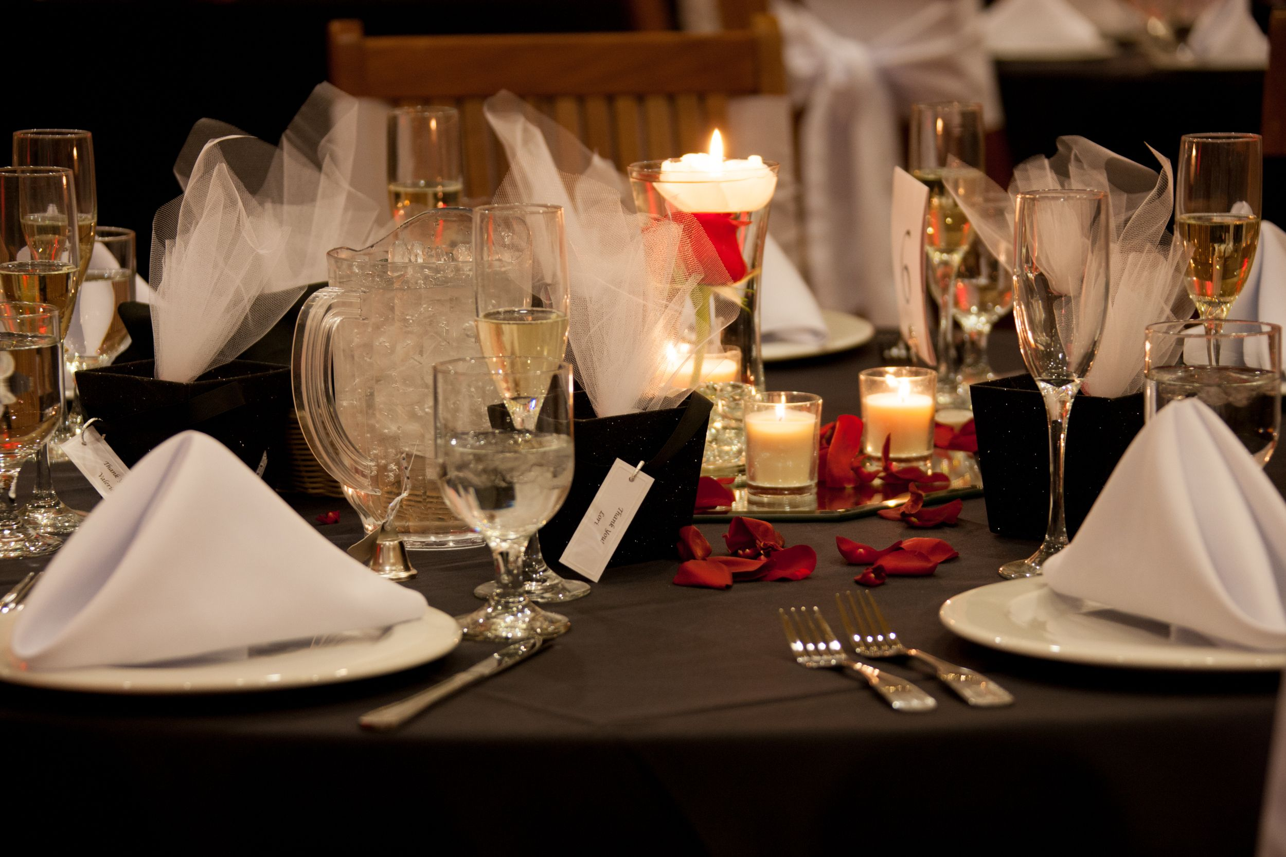 Red and black wedding decor  Wedding decor Our colors were Red Black u White  Mills Wedding