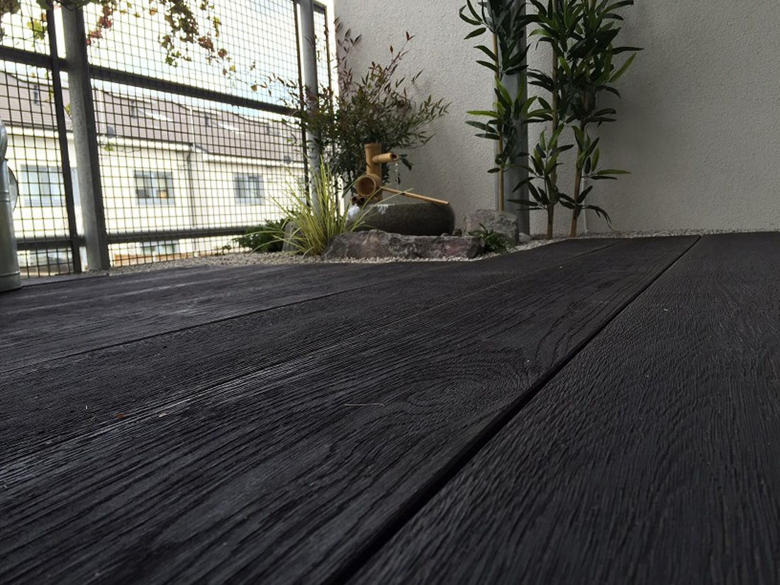 Millboard carbonised embered decks and decking decking