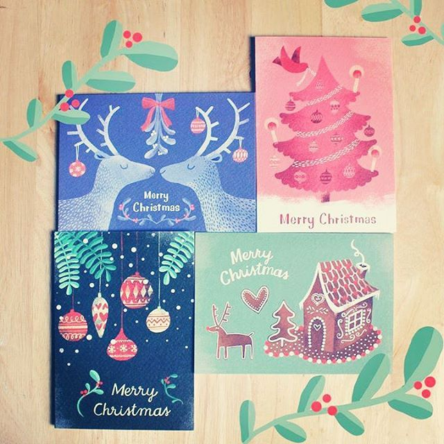 Time to start thinking about Christmas!  #christmas #greetingcards #xmas #glasgow #stationery #illustration