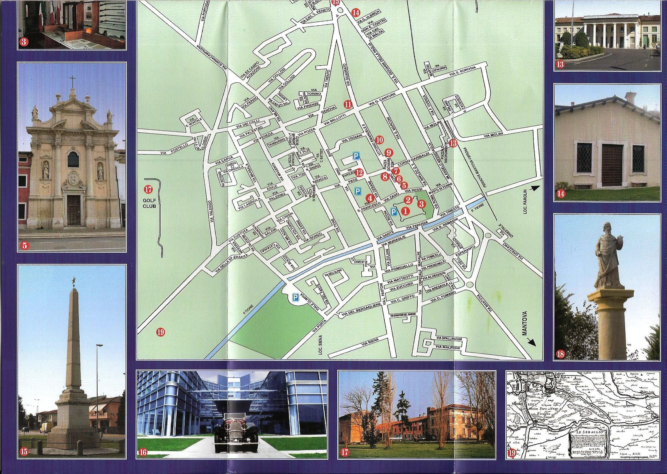 mappa di villafranca