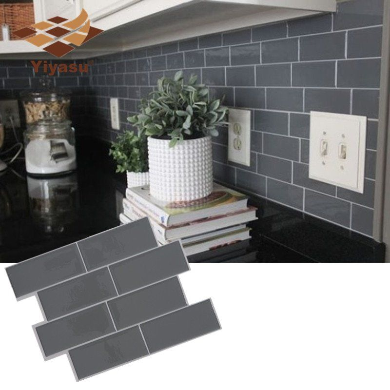 3D Self-Adhesive Kitchen Wall Tiles Bathroom Mosaic Brick Stickers Peel Stick
