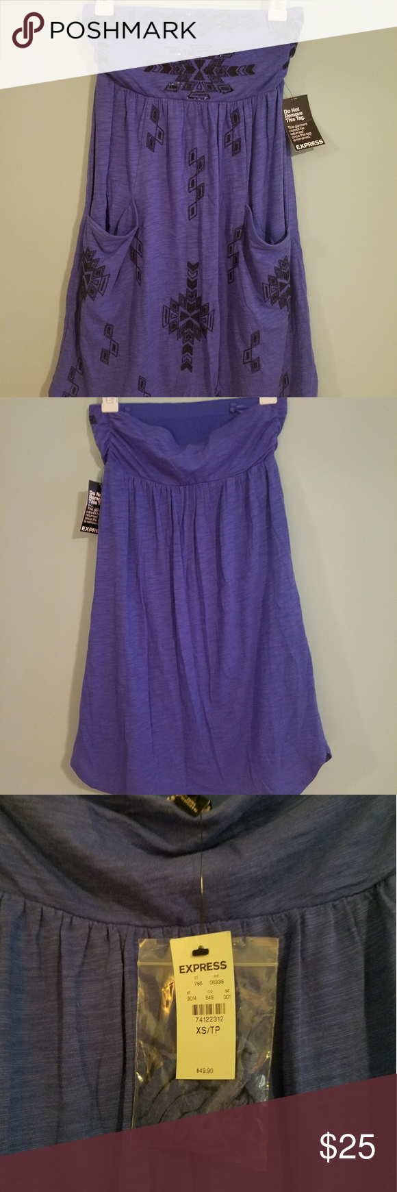Express strapless dress   Strapless dress, Express dresses and Sequins